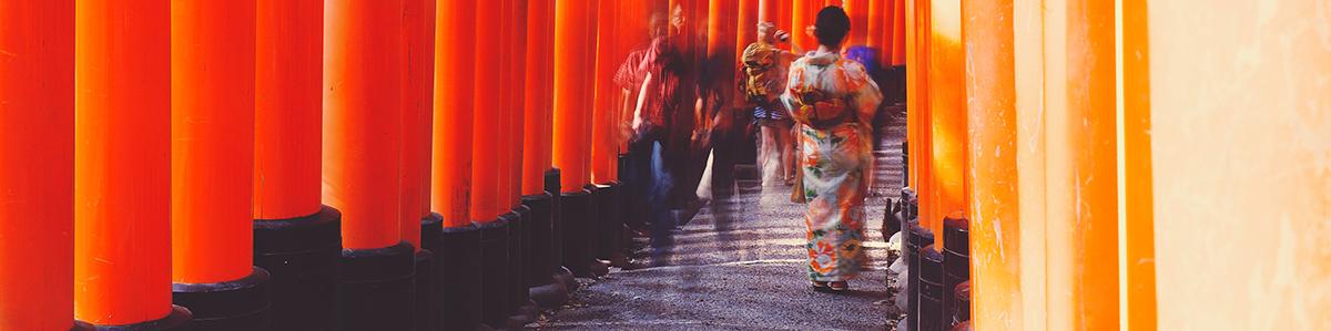Fushimi Inari Kyoto - wearing Kimono