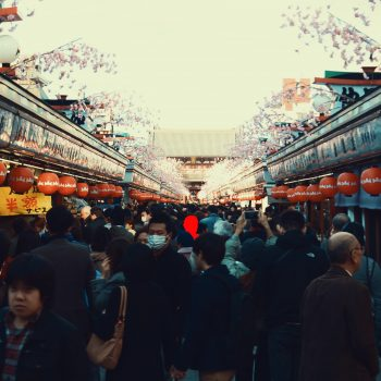 Street in Tokyo with a lot of people