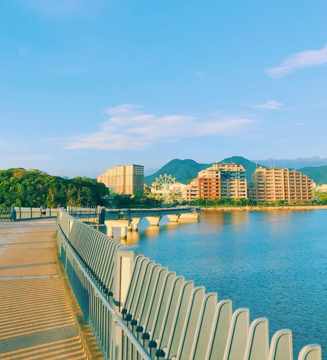 View of Fukuoka city from