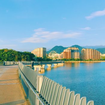 View of Fukuoka city from