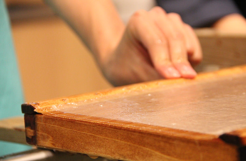 Traditional Japanese paper making