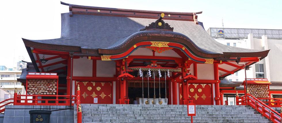 'Japanese language school GenkiJACS Tokyo location - Hanazono shrine' from the web at 'http://genkijacs.com/images/sliders/img_02.jpg'