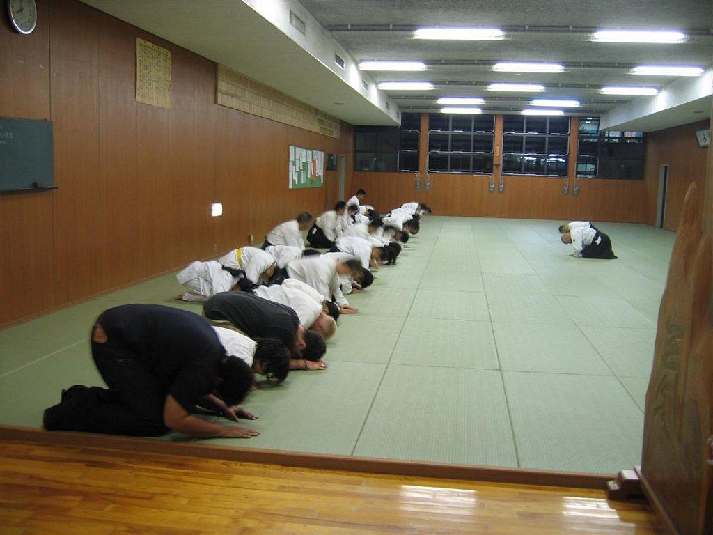 Martial arts center visit